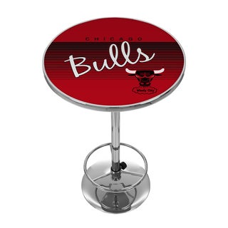 Chicago Bulls Hardwood Classics NBA Chrome Pub Table