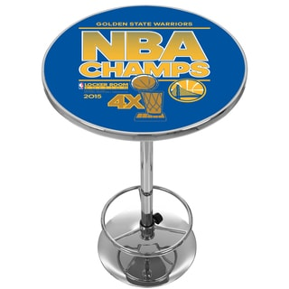 Golden State Warriors Chrome Pub Table - 2015 NBA Champs