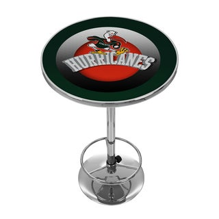 University of Miami Chrome Pub Table - Reaching Sebastian