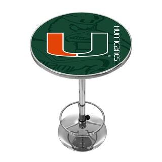 University of Miami Chrome Pub Table - Fade