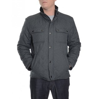 Kenneth Cole Reaction Men's Charcoal Grey Wool Quilted Lightweight Jacket