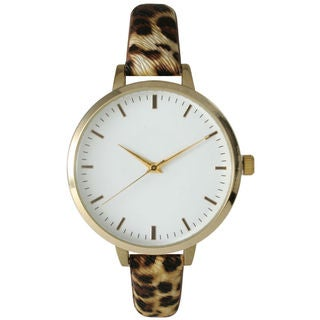 Olivia Pratt Women's Skinny Printed Leather Watch
