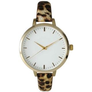 Olivia Pratt Women's Skinny Printed Leather Watch
