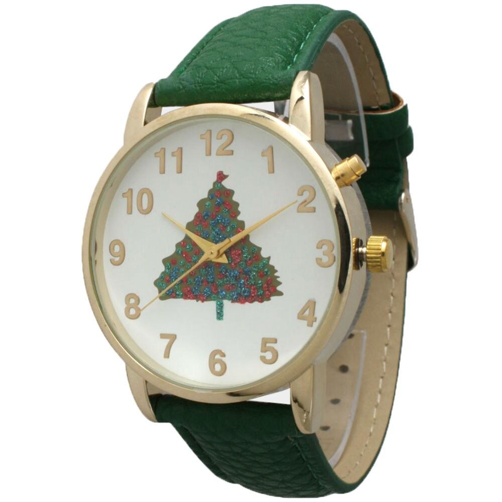Olivia Pratt Women's Simple Leather Holiday Watch, White,...