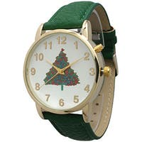 Olivia Pratt Women's Simple Leather Holiday Watch