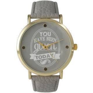 Olivia Pratt Women's 'You Have Been Given Today' Watch