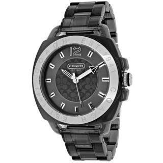 Coach Women's 14501389 Boyfriend Round Black Plastic Bracelet Watch