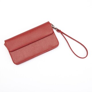 Royce Leather Women's Chic RFID Blocking Saffiano Leather Wristlet (3 options available)