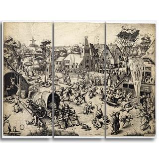 Design Art 'Pieter Bruegel - The Fair of Saint George's Day' Canvas Art Print