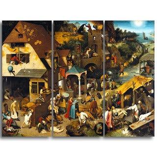 Design Art 'Pieter Bruegel - The Dutch Proverbs' Canvas Art Print