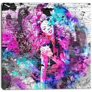 Design Art 'Graffiti Girl' Street Art Canvas Artwork