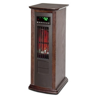 Lifesmart Lifelux Air Commander All Season Extra Large Room Infrared Wood Infrared Tower Heater and