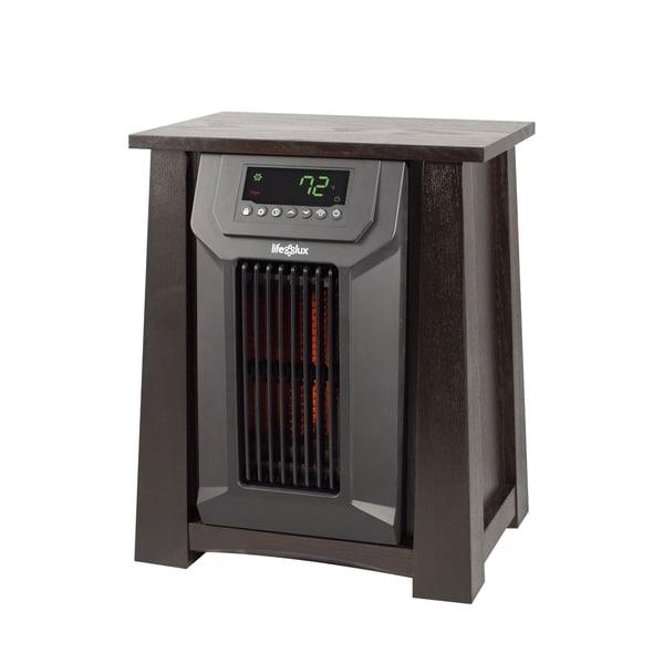 shop lifesmart lifelux 8 element infrared heater with. Black Bedroom Furniture Sets. Home Design Ideas
