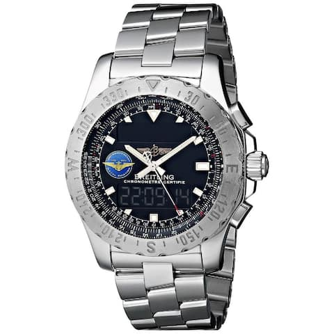 Breitling Men's A7836323-BA86 'Professional Airwolf' Analog-Digital Stainless Steel Watch