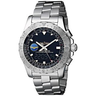 Link to Breitling Men's A7836323-BA86 'Professional Airwolf' Analog-Digital Stainless Steel Watch Similar Items in Men's Watches