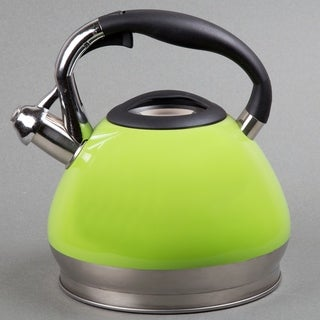 Creative Home Triumph 3.5 Qt Whistling Stainless Steel Tea Kettle - Green