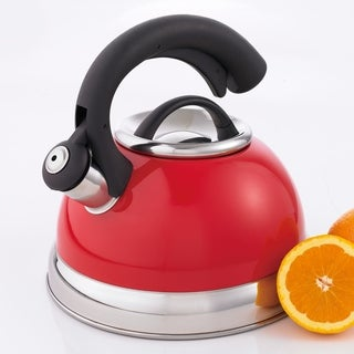 Creative Home Symphony 2.6 Qt Whistling Stainless Steel Tea Kettle - Pomegranate Red