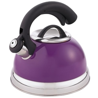 Creative Home Symphony 2.6 Qt Whistling Stainless Steel Tea Kettle - Plum