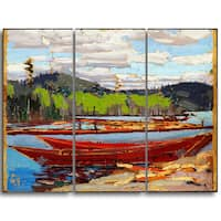 Design Art 'Tom Thomson - Bateaux' Canvas Art Print