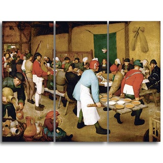 Design Art 'Pieter Bruegel - Peasant Wedding' Canvas Art Print