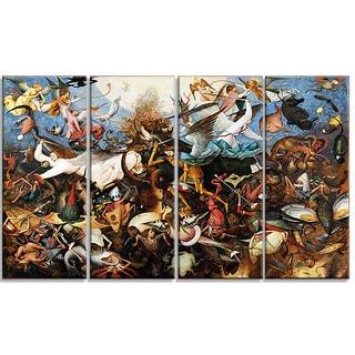 Design Art 'Pieter Bruegel - The Fal of the Rebel Angels' Canvas Art Print