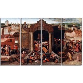 Design Art 'Pieter Bruegel - Christ Driving the Traders' Canvas Art Print