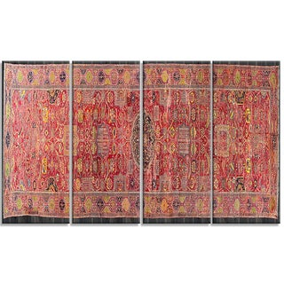 Design Art 'The Kevorkian Hydrabad Carpet' Canvas Art Print