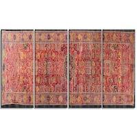 Design Art 'The Kevorkian Hydrabad Carpet' Canvas Art Print