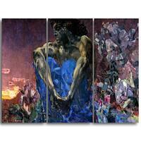Design Art 'Mikhail Vrubel - Demon (sitting)' Canvas Art Print