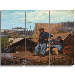 Design Art 'Winslow Homer - Home, Sweet Home' Canvas Art Print - 28Wx36H Inches - 3 Panels