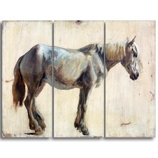 Design Art 'Jacques Laurent Agasse - Study of a Grey Horse' Animal Canvas Art