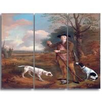 Design Art 'Thomas Gainsborouh - Major John Dade' Canvas Art Print - 28Wx36H Inches - 3 Panels