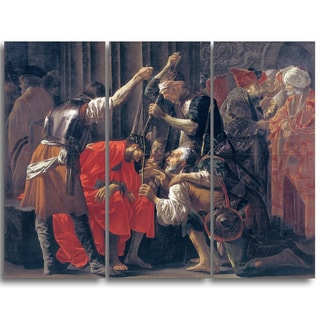 Design Art 'Hendrick ter Brugghen - Christ  Crowned  with  Thorns' Canvas Art Print