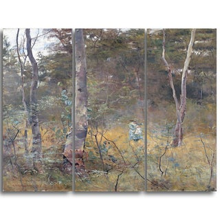 Design Art 'Frederick McCubbin - Lost' Canvas Art Print - 28Wx36H Inches - 3 Panels