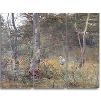 Design Art 'Frederick McCubbin - Lost' Canvas Art Print - 28Wx36H Inches - 3 Panels