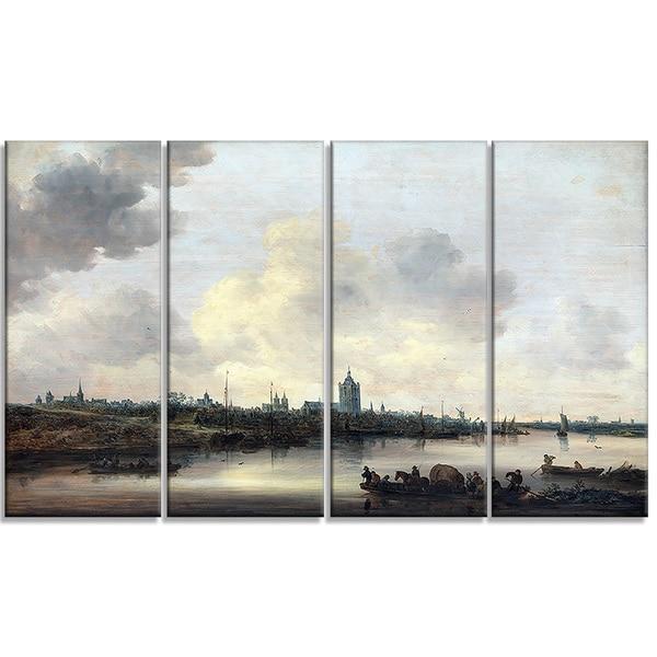 Design Art 'Jan Josefsz van Goyen - View of the City of Arnhem' Canvas Art Print