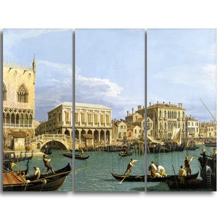 Design Art 'Giovanni A. Canal - View of the Riva degli Schiavoni' Canvas Art Print