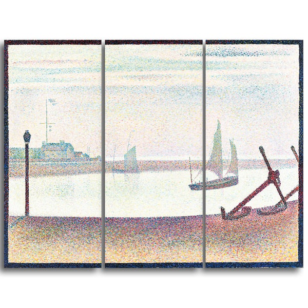 Design Art 'Georges Seurat - The Channel at Gravelines, Evening' Canvas Art Print