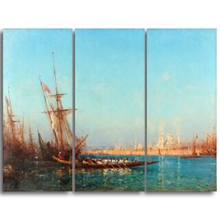 Design Art 'Felix Ziem - View of Istanbul' Canvas Art Print