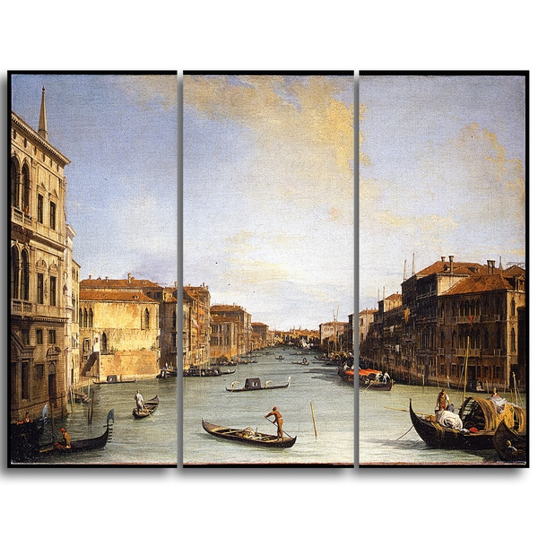 Design Art 'Canaletto - View of the Grand Canal' Canvas Art Print