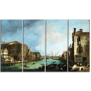 Design Art 'Canaletto - The Grand Canal in VeniceCanvas Art Print