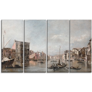 Design Art 'Canaletto - The Grand Canal in Venice' Canvas Art Print