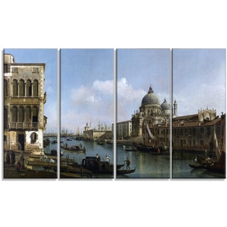 Design Art 'Bernardo Bellotto - View of the Grand Canal' Canvas Art Print