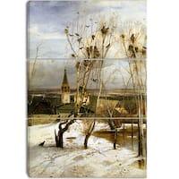 Design Art 'Alexei Savrasov - Rooks Have Returned' Canvas Art Print - 28Wx36H Inches - 3 Panels