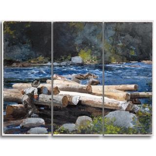 Design Art 'Winslow Homer - Hudson River' Canvas Art Print