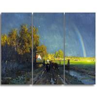 Design Art 'Willem Roelofs - The Rainbow' Canvas Art Print
