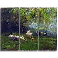 Design Art 'Willem Maris - Duck Heaven' Canvas Art Print