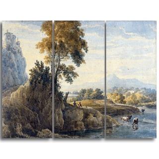 Design Art 'Thomas Girtin - Romantic Landscape' Canvas Art Print