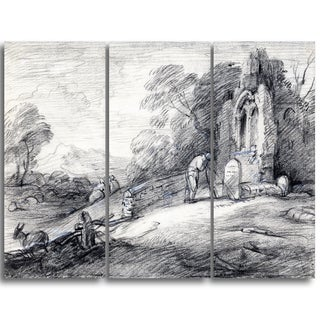 Design Art 'Thomas Gainsborouh - Wooded Landscape with Peasant' Canvas Art Print