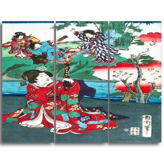 Design Art 'Toyohara Kunichika - The Tale of Gejni' Large Asian Canvas Art